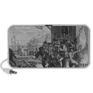 """Francia, placa I """"de la invasión"""", 1756 Altavoces De Viaje"""
