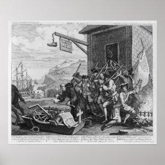 """Francia, placa I """"de la invasión"""", 1756 Impresiones"""