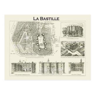 Francia, plan e imágenes del Bastille Tarjetas Postales