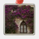 Francia, Provence, Eze. Rosa brillante Adorno Navideño Cuadrado De Metal