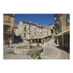 Francia, Provence, Valensole. Los turistas explora Impresiones Fotográficas