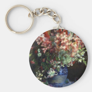 FRANCIA--Renoir: Gladiolas en un florero Llavero Redondo Tipo Pin