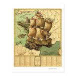 Francia representó como mapa de ShipPanoramic Postal