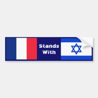 Francia se coloca con Israel Pegatina Para Auto