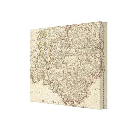 Francia y Europa Impresión En Lienzo