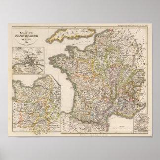 Francia y los reinos del aries a 1180 póster