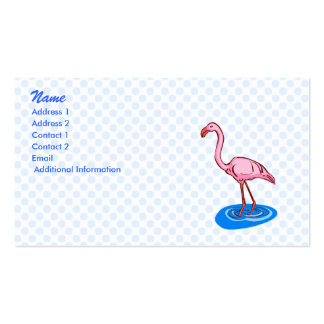 Francie Flamingo Double-Sided Standard Business Cards (Pack Of 100)