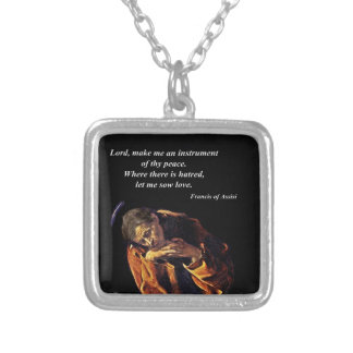 Francis an Instrument of Peace Silver Plated Necklace