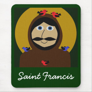 Francis and the Birds Mouse Pad