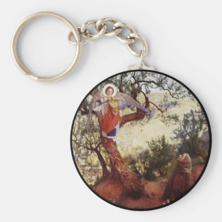 Francis Angel and Birds Keychain