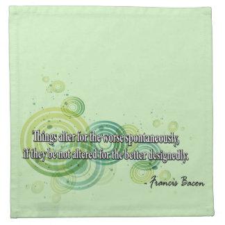 Francis Bacon Cloth Napkin