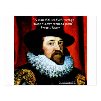 Francis Bacon Green Revenge Quote Greeting Card