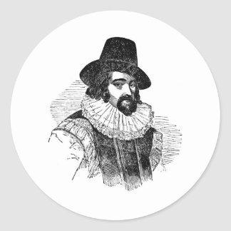 Francis Bacon Pegatina Redonda