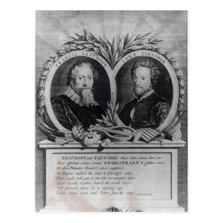 Francis Beaumont and John Fletcher Postcard