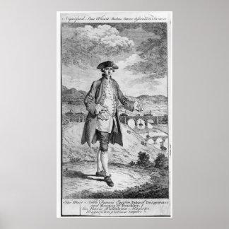 Francis Egerton , 3rd Duke of Bridgewater Poster