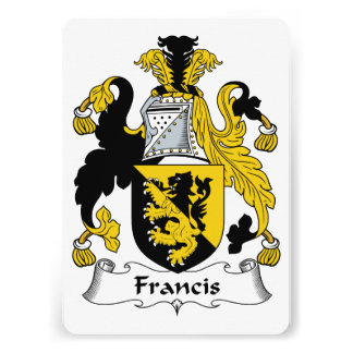 Francis Family Crest Personalized Invite