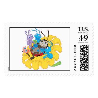 Francis, Flik, and Mr. Soil - A Bug's Life Disney Postage Stamp