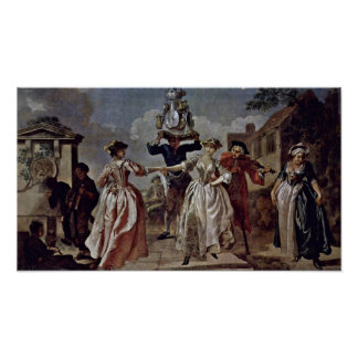 Francis Hayman - Dance of the milkmaid Poster