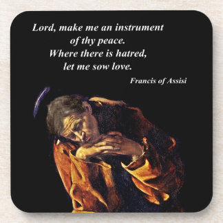 Francis of Assisi in Meditation Beverage Coaster