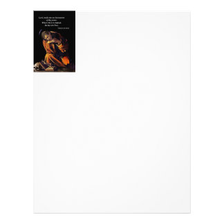 Francis of Assisi in Meditation Letterhead Template