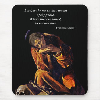 Francis of Assisi in Meditation Mouse Pad