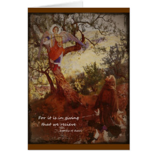 Francis of Assisi Kneeling Card