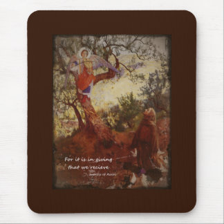Francis of Assisi Kneeling Mouse Pad