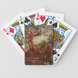 Francis of Assisi Kneeling Bicycle Poker Cards