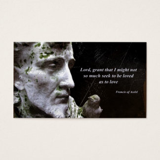 Francis of Assisi with Bird Business Card