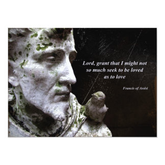 Francis of Assisi with Bird Card