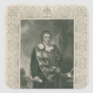 Francis Russell  5th Duke of Bedford Square Stickers