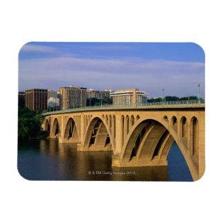 Francis Scott Key Bridge in daylight Magnet