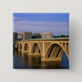 Francis Scott Key Bridge in daylight Pinback Button