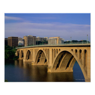 Francis Scott Key Bridge in daylight Poster