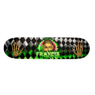 Francis skull green fire Skatersollie skateboard. Skateboard