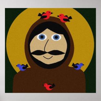 Francis & the Birds zazzle_print