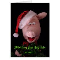 Francis the Pig Christmas Card