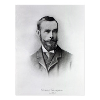 Francis Thompson, engraved by Emery Walker, 1894 Postcard