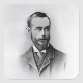 Francis Thompson, engraved by Emery Walker, 1894 Square Sticker