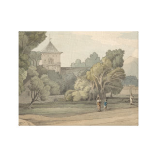 Francis Towne - New Radnor Canvas Print