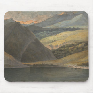 Francis Towne - View on Lake Maggiore at Evening Mouse Pad