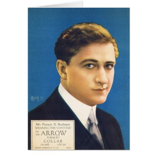 Francis X Bushman shirt advertisement Greeting Card