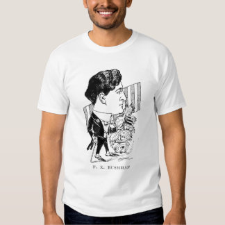 Francis X. Bushman Silent Movie Actor Caricature Shirt