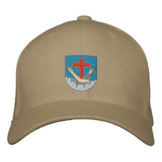 Franciscan coat of arms embroidered baseball hat