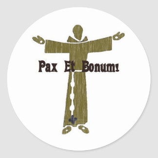 Franciscan Greetings Round Stickers