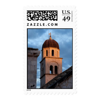 Franciscan Monastery Tower at Sunset Stamps