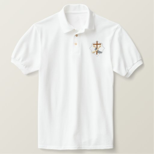 Franciscan symbol - crest embroidered polo shirt