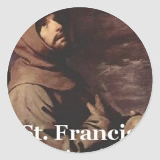Franciscano intenso del regalo de St Francis Etiquetas Redondas