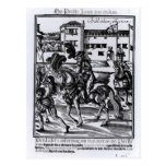 Francisco Alvarez on horseback Postcard