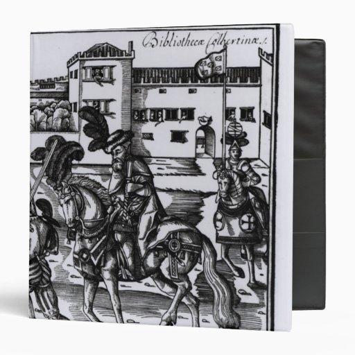 Francisco Alvarez on horseback Vinyl Binders